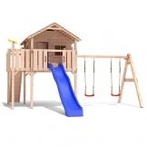 Spielhaus mit Rutsche Colino (Turmanbau) Holz