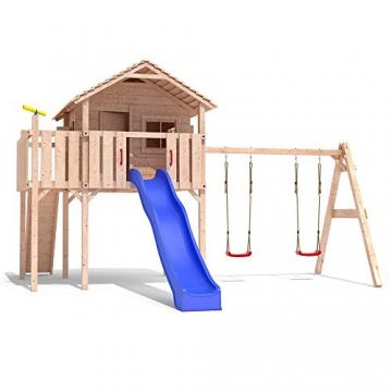 Spielhaus mit Rutsche Colino (Turmanbau) Holz -