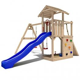 Spielhaus-mit-Rutsche-Empire-II-5-in-1-Holz
