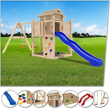 Spielhaus mit Rutsche Serina 5 in 1 Holz