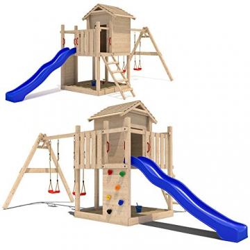 Fabulous ➨ Spielhaus mit Rutsche Empire II 5 in 1 Holz Im Test! OZ79