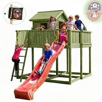 Spielhaus mit Rutsche Space XL Holz