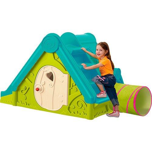 spielhaus mit rutsche und tunnel 3 in 1 im test. Black Bedroom Furniture Sets. Home Design Ideas